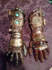 Steampunk gauntlet gloves by skinz n hydez-d4ql9gc