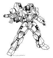 Robotech walker cyclone battloid by chuckwalton-d95l4td