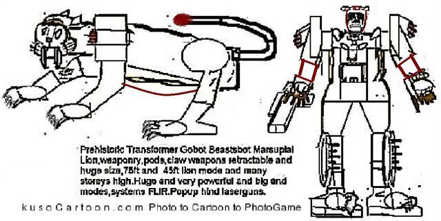 File:Prehistoric Beasts robot lion.JPG