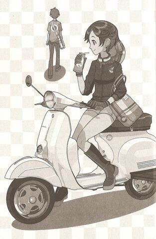 File:Mikoko on her Vespa, with I.jpg