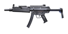W m SubMachineGun MP5 A3 측면