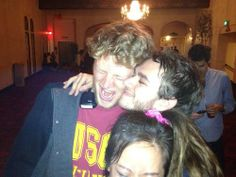 File:Gabe Damast and Zedd hugging.jpg