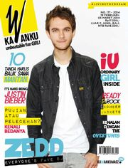 KaWanku Magazine 2014 cover with Zedd