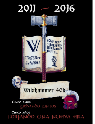 Archivo:5 AÑOS WIKIHAMMER.png