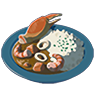 Breath of the Wild Food Dish (Curry) Seafood Curry (Icon).png