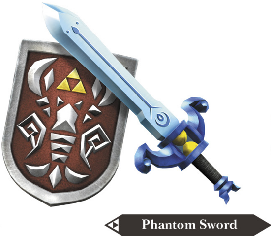 File:Hyrule Warriors Legends Light Sword Phantom Sword & Shield of Antiquity(Render).png