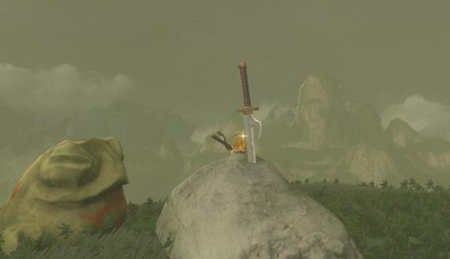 File:Breath of the Wild Sheikah Sword Eightfold Blade (Lantern Lake).png