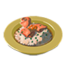 File:Breath of the Wild Food Dish (Risotto) Salmon Risotto (Icon).png