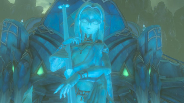 File:Breath of the Wild Lost Memories of Mipha Statue of Lady Mipha (Cutscene).png
