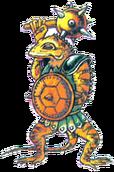 Un Lizalfos en The Adventure of Link