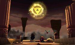 A Triforce de Lorule restaurada