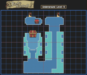 Pirate Hideaway Underground Level 5 Map With Chests