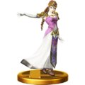 Super Smash Bros. for Wii U Trophies Princess Zelda (Classic Trophy Render).png