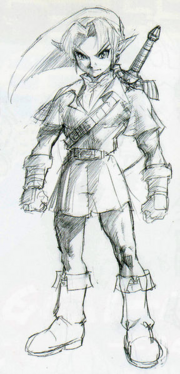 Majora's Mask Beta Adult Link (Concept Artwork)