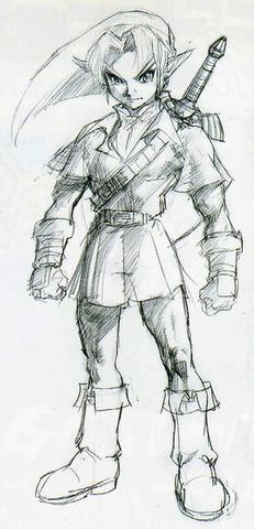 File:Majora's Mask Beta Adult Link (Concept Artwork).png