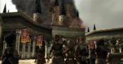 Hyrule Castle in Flames