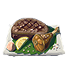 Breath of the Wild Food Dish (Salt-Grilled) Salt-Grilled Meat (Icon).png