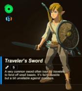 Breath of the Wild Traveler's Equipment Traveler's Sword (Inventory)