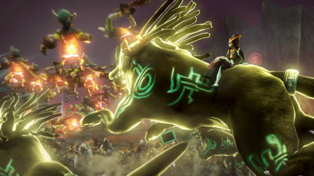File:Hyrule Warriors Twili Midna Riding her Giant Twilight Wolfos (Mirror combo).png