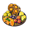 Breath of the Wild Food Dish (Honeyed) Honeyed Fruits (Icon).png