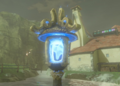 Breath of the Wild Blue Fire Blue Flame Torch Lantern (Hateno Village).png