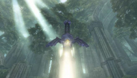 Master Sword in the Sacred Grove