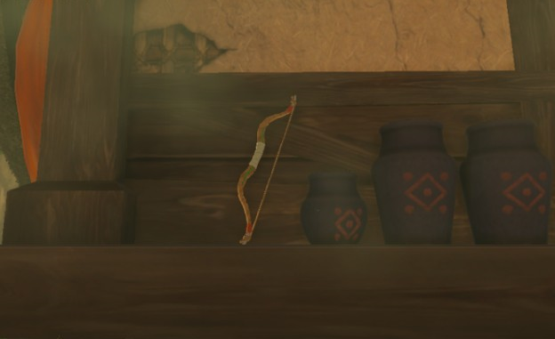 File:Breath of the Wild Wooden Equipment (Bows) Wooden Bow (The Curious Quiver - Kakariko Village).png
