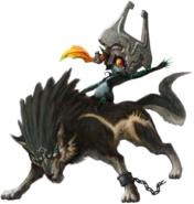 Wolf Link and Midna Artwork