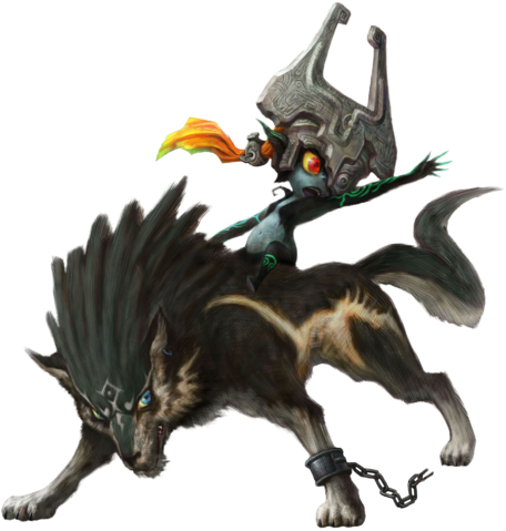 File:Wolf Link and Midna Artwork.png
