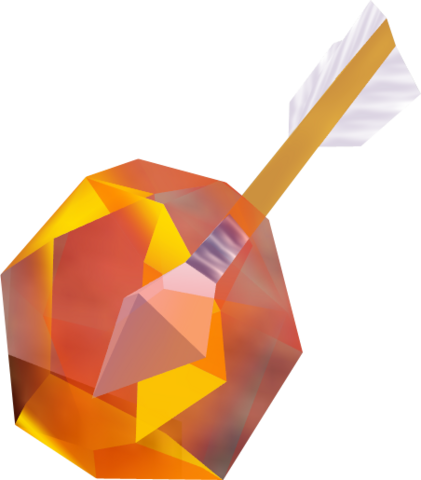 File:Ocarina of Time & Majora's Mask Arrows Fire Arrow (Render).png
