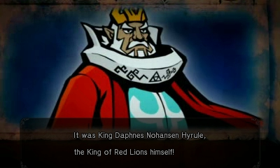 File:Hyrule Warriors Legends Wind Waker - The Search for Cia King Daphnes Nohansen Hyrule the King of Red Lions (Stylized Cutscene).png