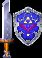 Razor Sword and Hylian Shield (Soul Calibur II)