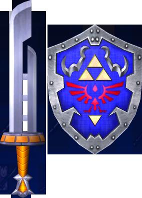 File:Razor Sword and Hylian Shield (Soul Calibur II).png
