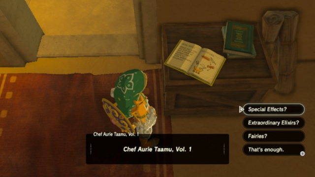 File:Breath of the Wild Cook Books Chef Aurie Taamu, Vol 1.png