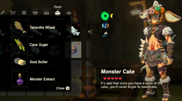 File:Breath of the Wild Monster Food Dish Monster Cake (Base Recipe).png