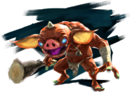 Breath of the Wild Artwork Red Bokoblin (Official Artwork)