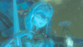 Breath of the Wild Lost Memories of Mipha Memorial Statue of Lady Mipha (Cutscene).png