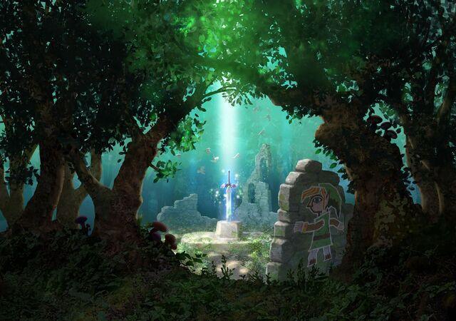 File:Lost Woods Artwork (A Link Between Worlds).jpg