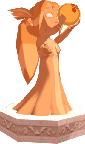 File:The Wind Waker Golden Goddess Statues Din's Statue (Render).png