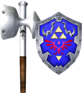 Megaton Hammer and Hylian Shield (Soul Calibur II)