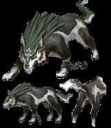 Twilight Princess Artwork Wolf Link (Concept Artwork)