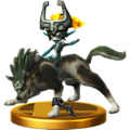 Super Smash Bros. for Wii U Wolf Link & Midna (Twilight Princess) Wolf Link (Trophy).png