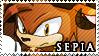 Stamp sepia the satyr by zephyros phoenix-d4nugd1