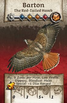 Zombicide Black Plage - Animal Companion - Red-Tailed Hawk