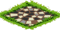 Black Mosaic Path