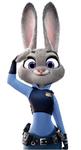 Judy saluting
