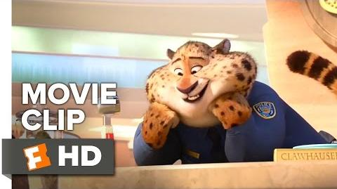 Zootopia Movie CLIP - Meet Clawhauser (2016) - Ginnifer Goodwin, J.K