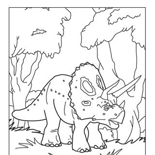<i>Triceratops</i> coloring page from the (defunct) <i>Zoo Tycoon</i> website.