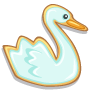 Swimming Swan Cookie-icon